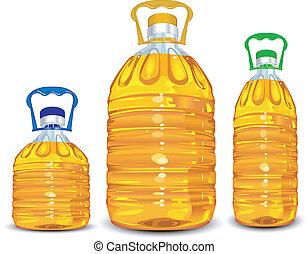 Botellas de aceite