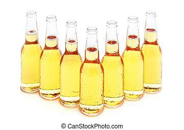 Botellas de cerveza aisladas