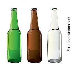 Botellas de cerveza en vector