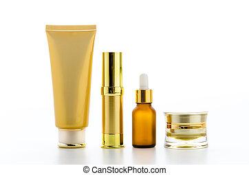 Botellas de cosméticos
