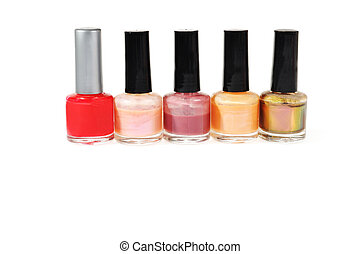 Botellas de esmalte de uñas