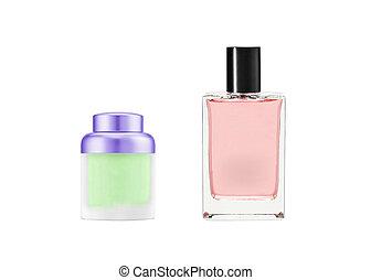 Botellas de perfume aisladas