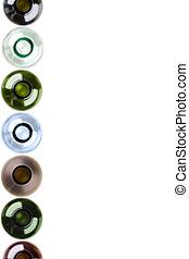Botellas de vino como fondo