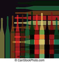 Botellas de vino de fondo