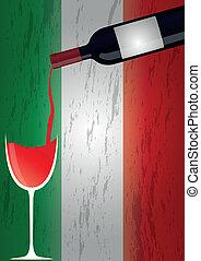 Botellas de vino Italia
