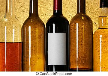 Botellas de vino seguidas