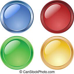 Botones brillantes