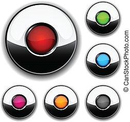 Botones brillantes.