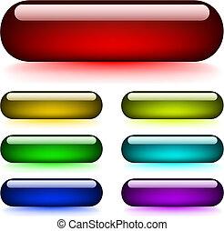 Botones brillantes y brillantes