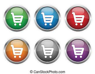 botones, compras de la tela