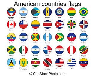 Botones con banderas americanas