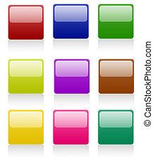 Botones cuadrados redondos