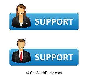 Botones de apoyo
