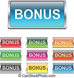 Botones de bonus, iconos listos, vector