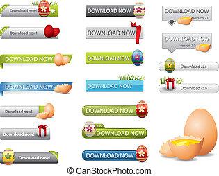Botones de carga de Pascua