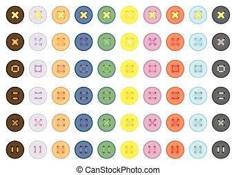 Botones de color