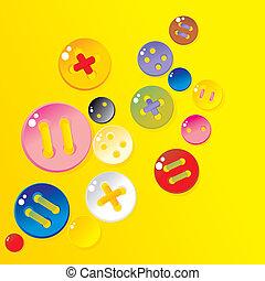 Botones de color rociados