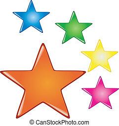 Botones de colores estelares