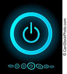 Botones de energía del vector