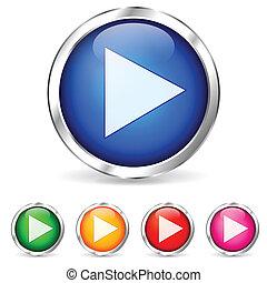 Botones de juego coloridos
