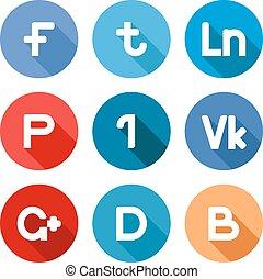 Botones de la red social Vector