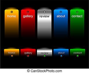 Botones de página web