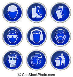 Botones de salud y seguridad