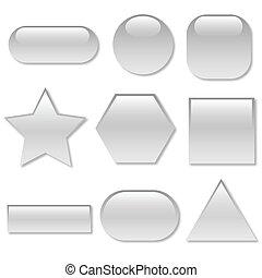 Botones de telaraña blanca