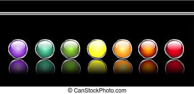 Botones de telaraña brillantes