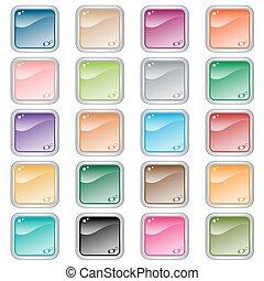Botones de telaraña cuadrada de 20 colores variados