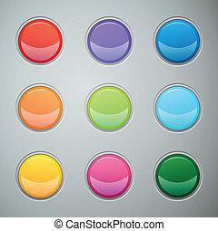 Botones de telaraña de vectores para página web o electrodoméstico