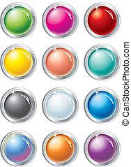 Botones de vector multicolor
