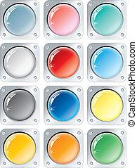 Botones multicolores