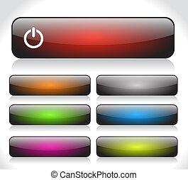 Botones para Internet. Vector.