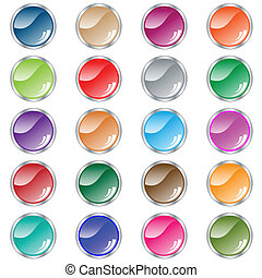 Botones redondos de 20 colores variados