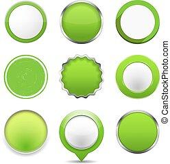 Botones redondos verdes