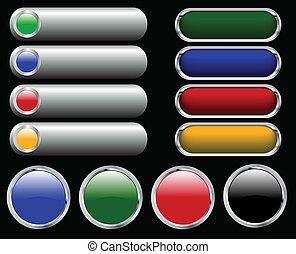 Botones relucientes