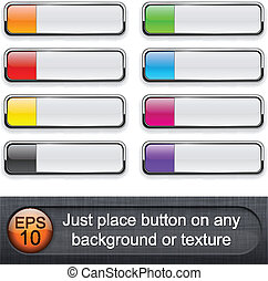 Botones retangulares.