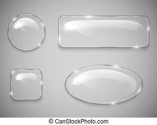 botones, vidrio