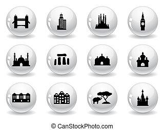 Botones Web, iconos de marca