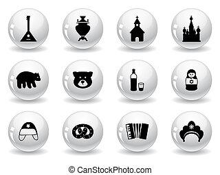Botones Web, iconos rusos