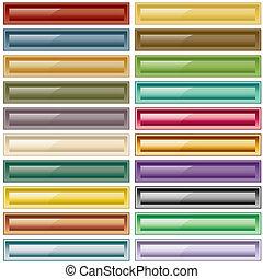 Botones Web variados de colores