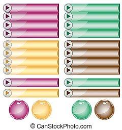 Botones Web variados de colores y formas