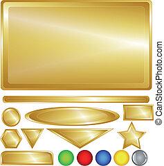 Botones y barras de oro