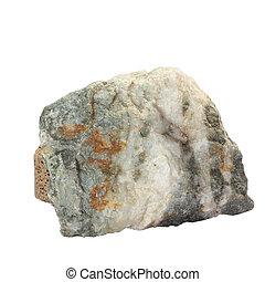 boulder, jardín de piedra, naturaleza, grande, geología, aislado, grande, granito, solo, recorte, roca, trayectoria, blanco, río, bloque