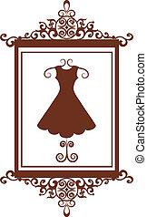 boutique de moda retro con vestido