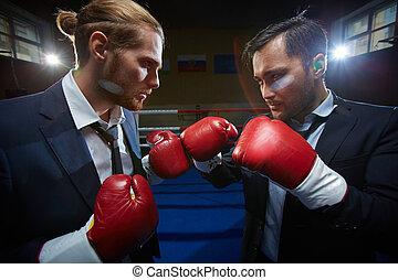 Boxeadores de negocios