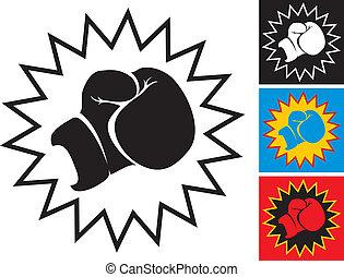 boxeo, puñetazo, guante