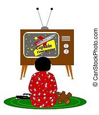 Boy viendo la tele
