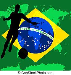 brasil, campeonato, fútbol, ilustración, bandera, vector, /, brasileño, internacional, futbol, 2014